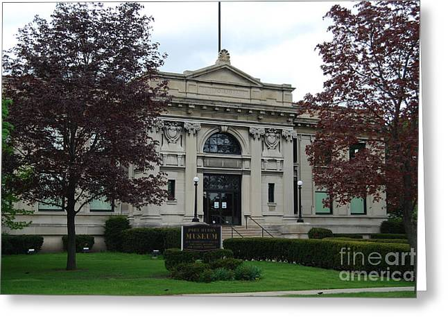 Carnegie Museum Greeting Cards - Port Huron Museum Greeting Card by Grace Grogan