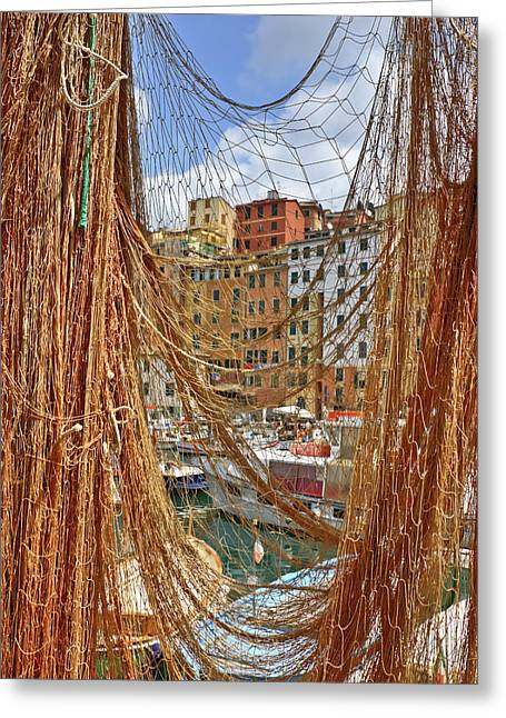 Camogli Greeting Cards - Port of Camogli Greeting Card by Joana Kruse