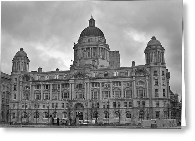 Edwardian Greeting Cards - Port of Liverpool Building Greeting Card by Nomad Art And  Design