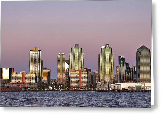 Moonrise Greeting Cards - Port of San Diego Greeting Card by Forest Alan Lee