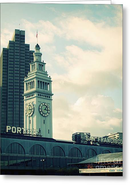 Bay Area Greeting Cards - Port of San Francisco Greeting Card by Linda Woods