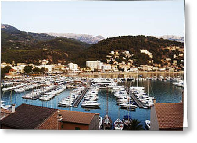 Blue Green Water Greeting Cards - Port of Soller Greeting Card by Agusti Pardo Rossello