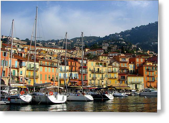 Villefranche Greeting Cards - Port of Villefranche-Sur-Mer Greeting Card by Carla Parris