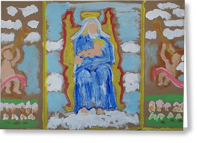 Altar Picture Greeting Cards - Portable Altar for Homeless Greeting Card by Jay Manne-Crusoe