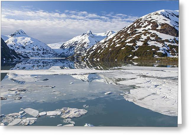 Portage Lake In The Spring Greeting Card by Tim Grams
