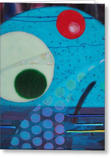 Planet Glass Art Greeting Cards - Portal Greeting Card by Mark Lubich