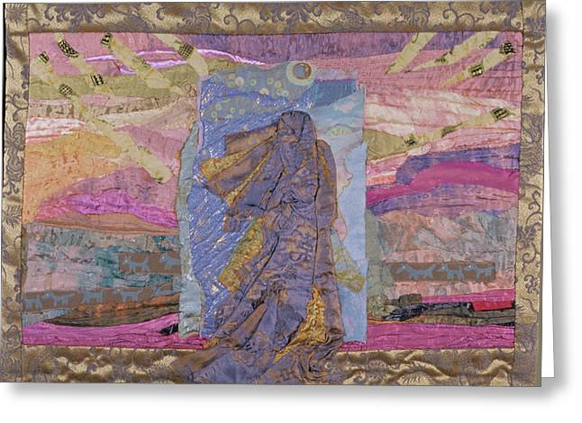 Portal Tapestries - Textiles Greeting Cards - Portal Greeting Card by Roberta Baker