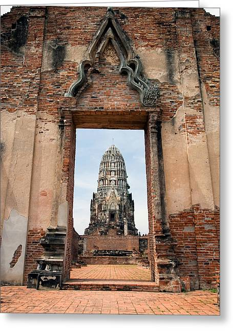 Ayutthaya Greeting Cards - Portal to the Temple Greeting Card by Artur Bogacki