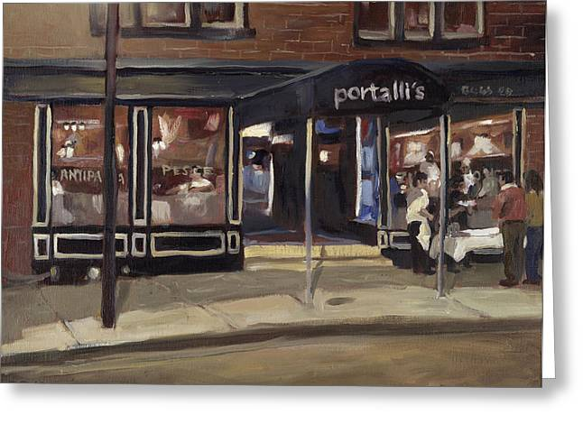 Edward Williams Greeting Cards - Portalls at Night Greeting Card by Edward Williams