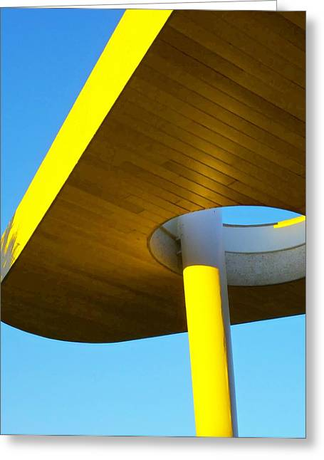 Porte Greeting Cards - Porte Cochere 1 Greeting Card by Randall Weidner