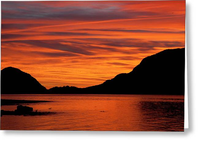 Porteau Cove Greeting Cards - Porteau Cove Glow Greeting Card by Monte Arnold