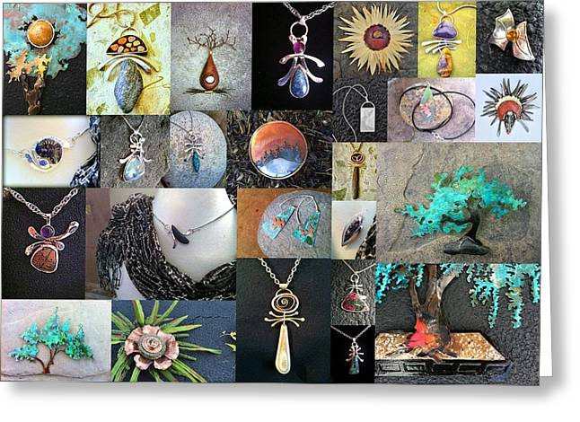 Lit Jewelry Greeting Cards - Portfolio Collage 2012 Greeting Card by Vanessa Williams