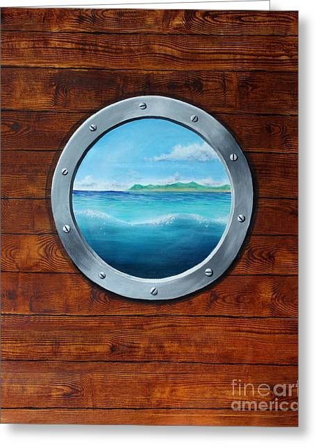 Barbara Marcus Greeting Cards - Porthole Greeting Card by Barbara Marcus