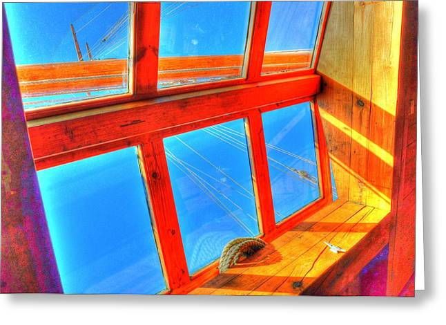 Village By The Sea Greeting Cards - Portholes Greeting Card by Barry R Jones Jr