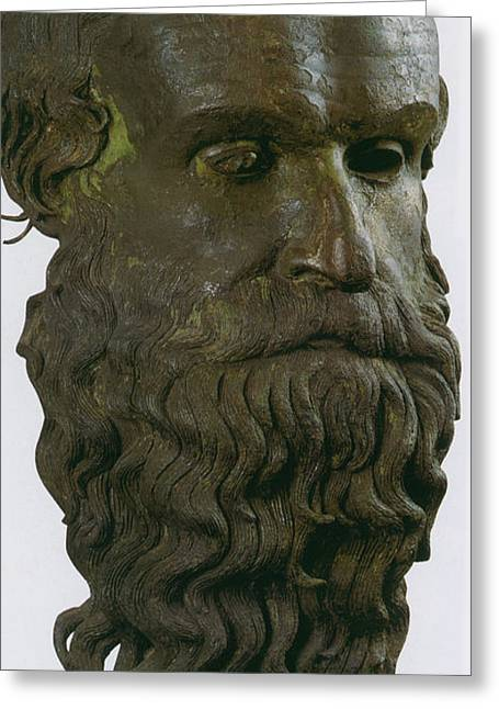 Greek Sculpture Greeting Cards - Porticello, Greek Philosopher Greeting Card by Science Source
