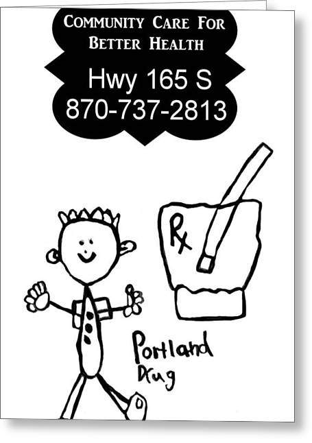 Pestal Greeting Cards - Portland Drug Store Greeting Card by Nicole Martin