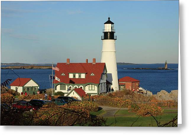 Recently Sold -  - Coastal Maine Greeting Cards - Portland Head Lighthouse 2 Greeting Card by Lou Ford