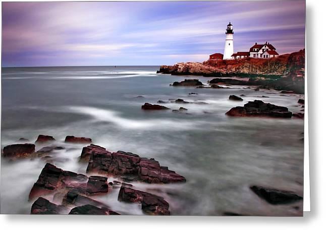 Portland Head Lighthouse Greeting Cards - Portland Head Lighthouse Greeting Card by Rick Berk