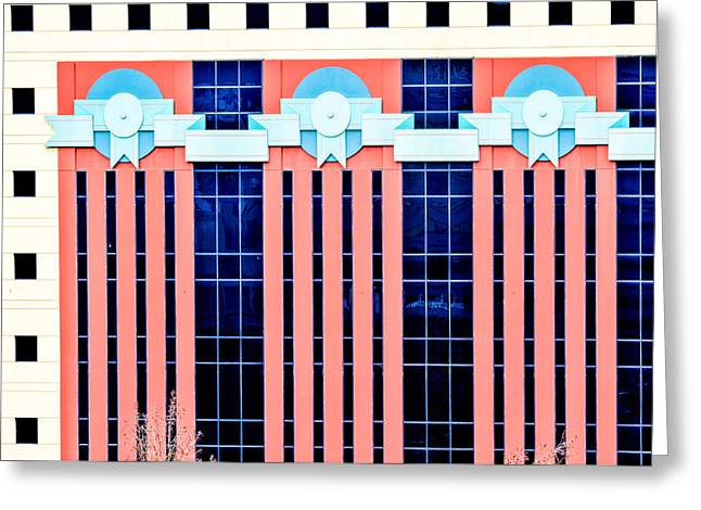 Jean Noren Greeting Cards - The Portland Building Greeting Card by Jean Noren