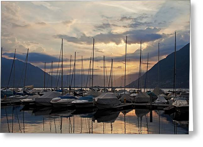 Lago Greeting Cards - Porto Patriziale Ascona Greeting Card by Joana Kruse