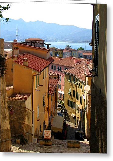 Carla Parris Greeting Cards - Portoferraio Elba Greeting Card by Carla Parris