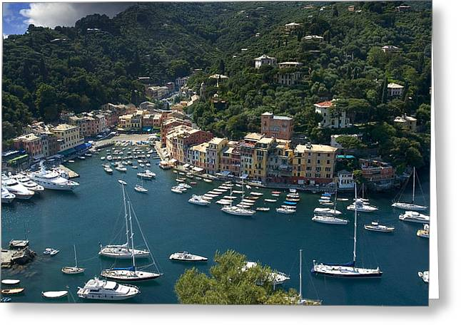 Tuscan Valley Greeting Cards - Portofino in Tuscany Greeting Card by Al Hurley