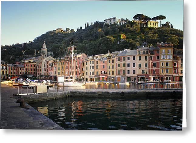 Portofino Italy Greeting Cards - Portofino at Dawn Greeting Card by Bob Snell