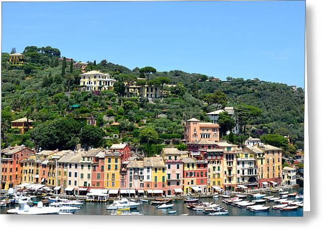 Portofino Italy Greeting Cards - Portofino Greeting Card by Corinne Rhode