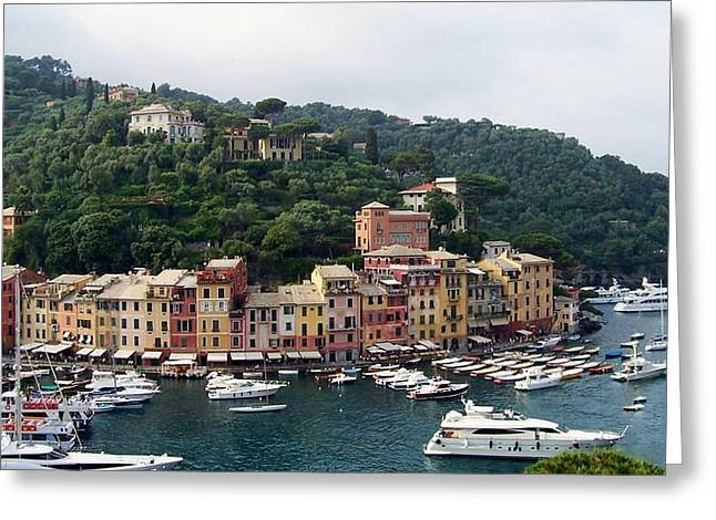 Senic View Greeting Cards - Portofino Dreaming Greeting Card by Marilyn Dunlap