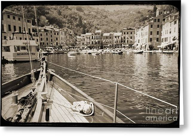 Portofino Italy Greeting Cards - Portofino Italy from Solway Maid Greeting Card by Dustin K Ryan