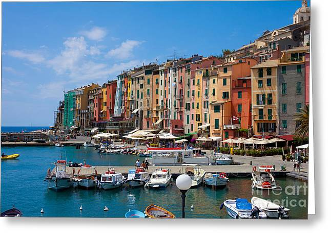 Italy Pyrography Greeting Cards - Portovenere Greeting Card by Erik Fischer
