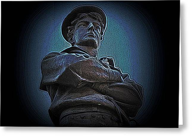 Statue Portrait Photographs Greeting Cards - Portrait 33 American Civil War Greeting Card by David Dehner