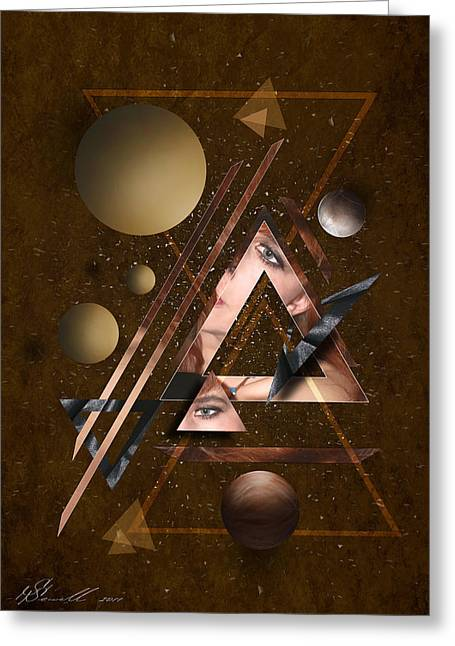 Abstract Shapes Mixed Media Greeting Cards - Portrait Abstract3 Greeting Card by Svetlana Sewell