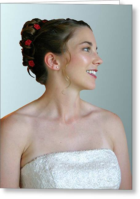 Portrait Of A Bride Greeting Card by Kristin Elmquist