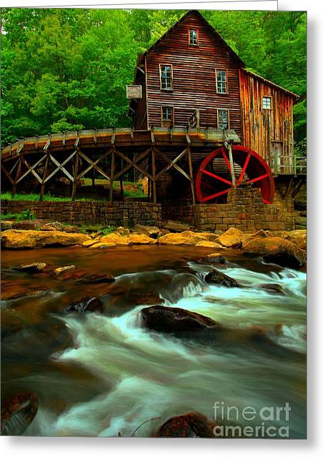 Babcock Greeting Cards - Portrait Of A Grist Mill Greeting Card by Adam Jewell