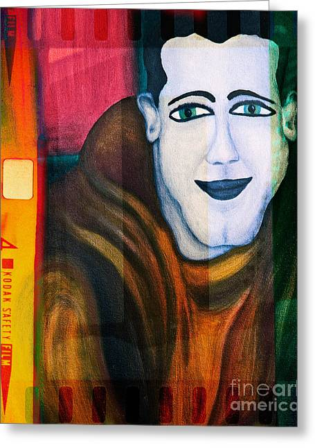 Oil Portrait Photographs Greeting Cards - Portrait of a man 3 Greeting Card by Emilio Lovisa