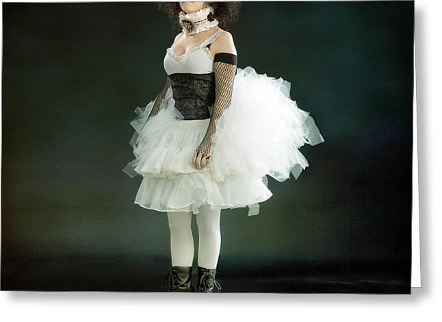 Portrait of a Vintage Dancer Series Greeting Card by Cindy Singleton