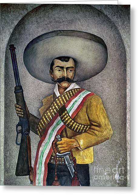 Mexican Revolution Greeting Cards - Portrait Of A Zapatista Greeting Card by Granger