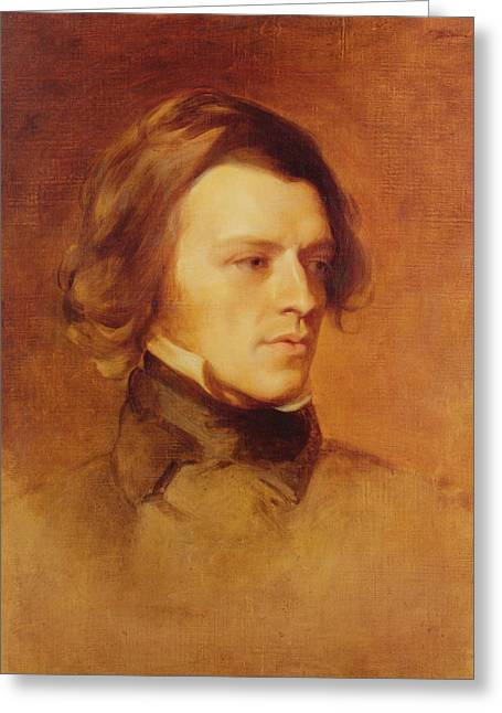 Philosopher Greeting Cards - Portrait of Alfred Lord Tennyson Greeting Card by Samuel Laurence