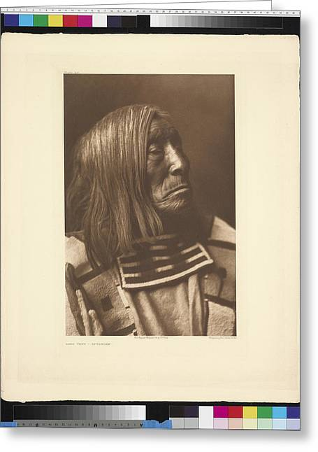 North American Indian Ethnicity Greeting Cards - Portrait Of Famous Warrior, Lone Greeting Card by Edward S. Curtis