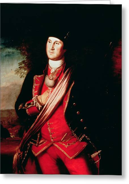 Independence Greeting Cards - Portrait of George Washington Greeting Card by Charles Willson Peale