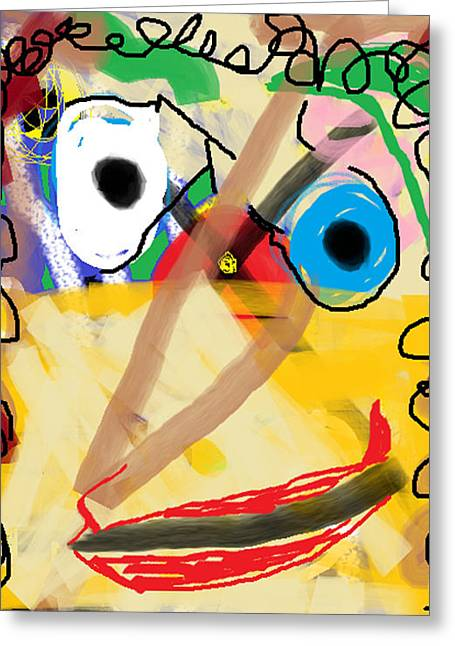 Anita Dale Livaditis Greeting Cards - Portrait of Greta Greeting Card by Anita Dale Livaditis