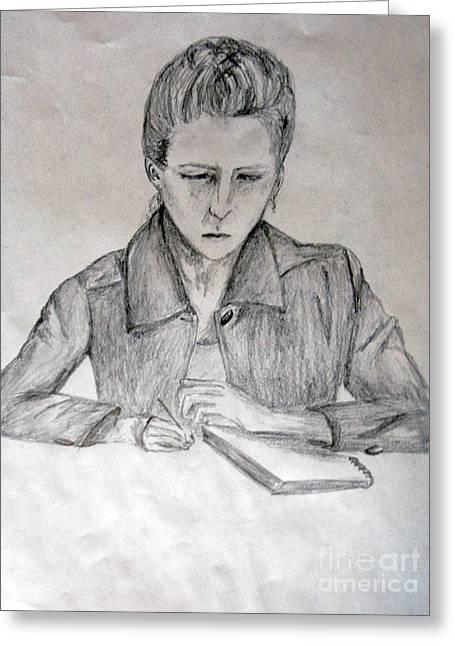 Portrait Of Haley Golz Greeting Card by Jana Barros