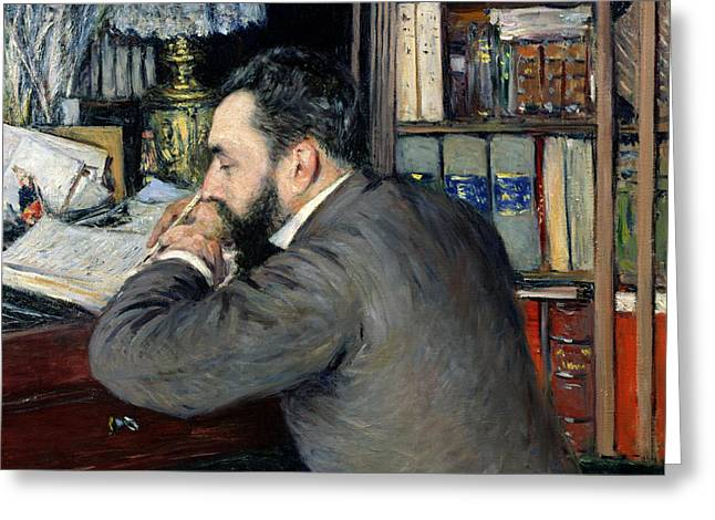 Journal Greeting Cards - Portrait of Henri Cordier Greeting Card by Gustave Caillebotte