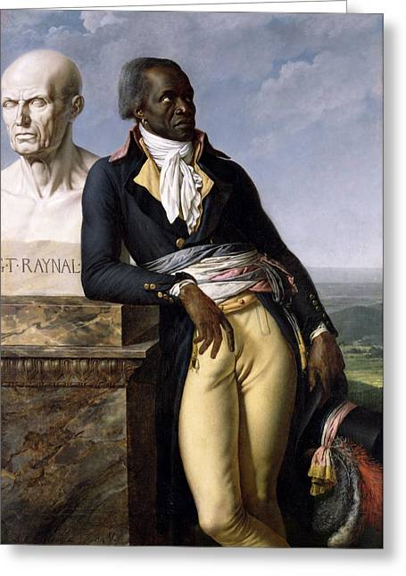 Best Sellers -  - Statue Portrait Greeting Cards - Portrait of Jean-Baptiste Belley Greeting Card by Anne Louis Girodet de Roucy-Trioson