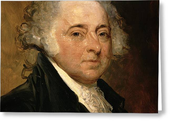 Portrait of John Adams Greeting Card by Gilbert Stuart