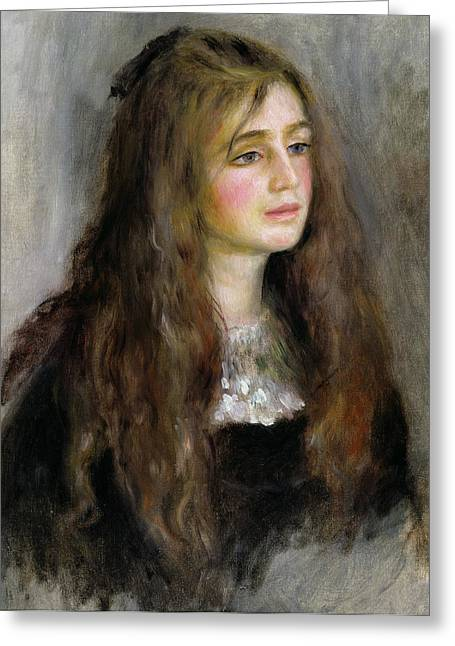 Julie Greeting Cards - Portrait of Julie Manet  Greeting Card by Pierre Auguste Renoir