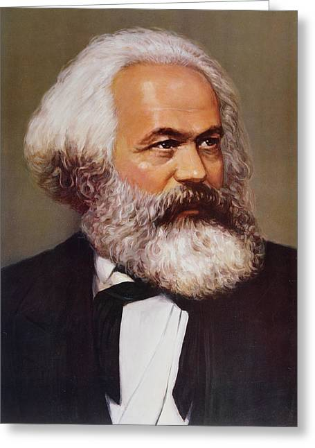 Communism Greeting Cards - Portrait of Karl Marx Greeting Card by Unknown