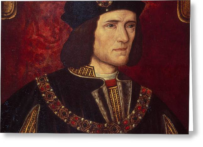 Portrait of King Richard III Greeting Card by English School