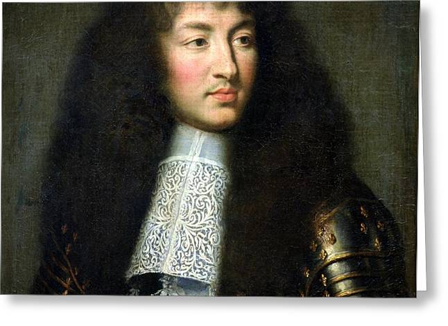 Portrait of Louis XIV Greeting Card by Charles Le Brun